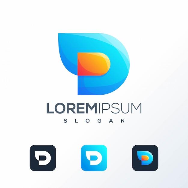 Création de logo tech coloré prête à l'emploi