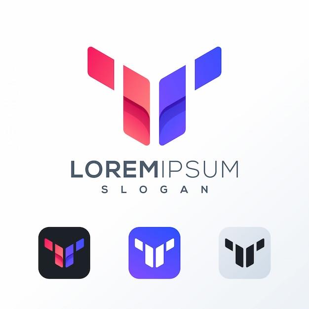 Création de logo tech coloré