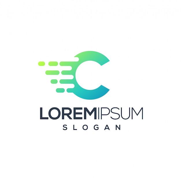 Création de logo tech lettre c