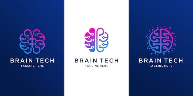 Création de logo de technologie d'ampoule abstraite