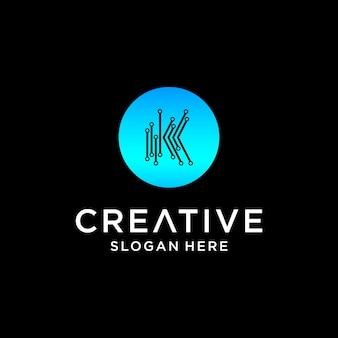 Création de logo de technologie k