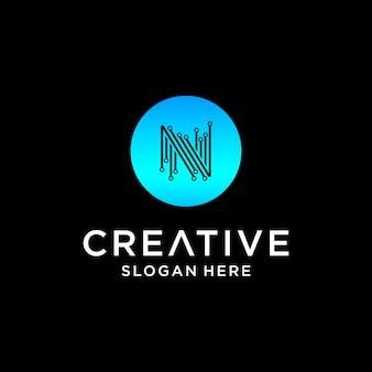 Création de logo de technologie n