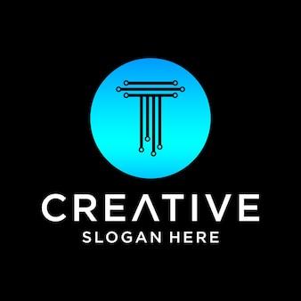 Création de logo de technologie t