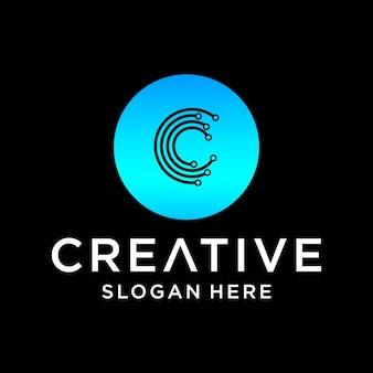 Création de logo de technologie c