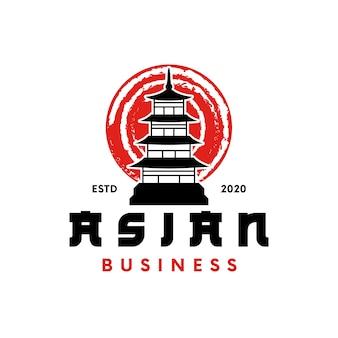 Création de logo de temple japonais