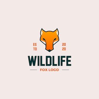 Création de logo de tête de renard