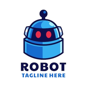 Création de logo tête de robot dessin animé