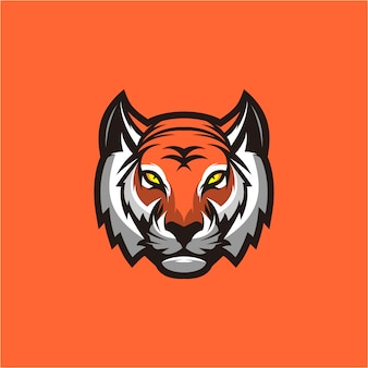 Création de logo tête de tigre