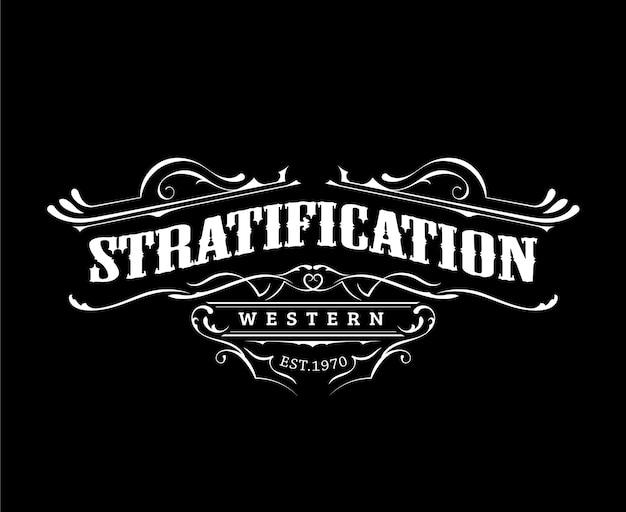 Création de logo sur le thème occidental