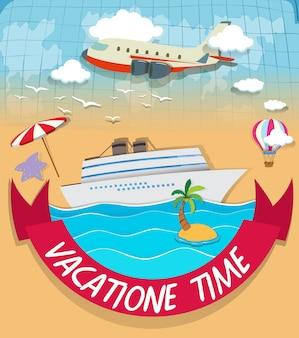 Création de logo avec thème de vacances