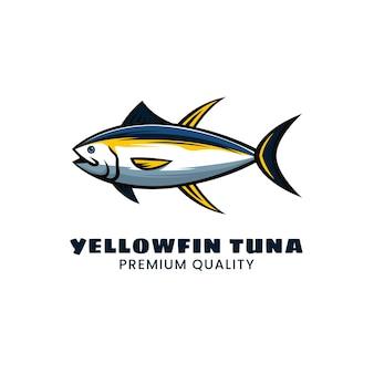 Création de logo de thon à nageoires jaunes