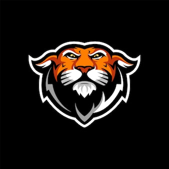 Création de logo de tigre avec vecteur