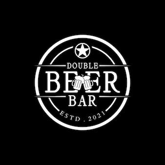 Création de logo de timbre de logo de boisson de bière