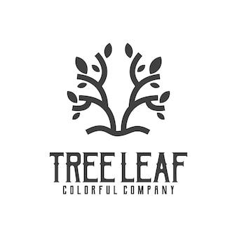 Création de logo de timbre rétro vintage silhouette arbre