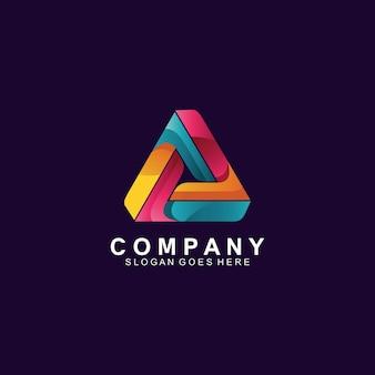 Création de logo triangle moderne coloré