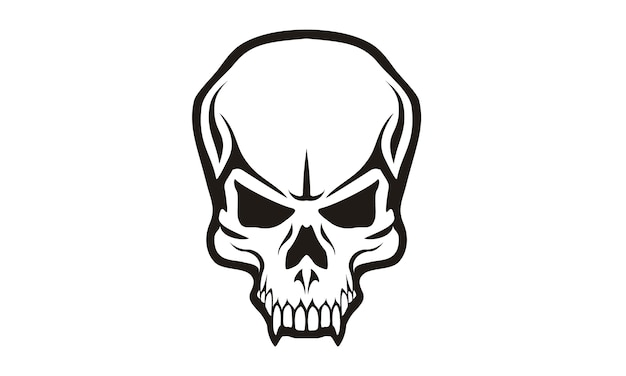 Création de logo tribal skull