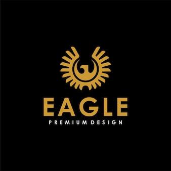 Création de logo unique de symbole de mouche d'aigle