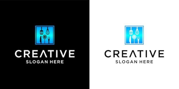 Création de logo d'ustensiles de cuisine