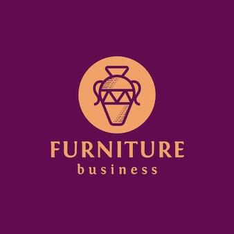 Création de logo de vase antique de meubles