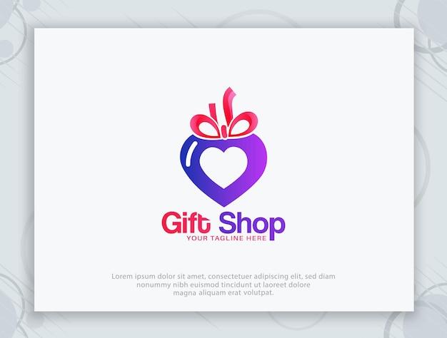 Création de logo vectoriel boutique de cadeaux