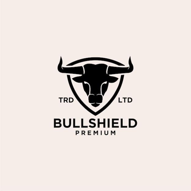 Création de logo vectoriel bull bouclier