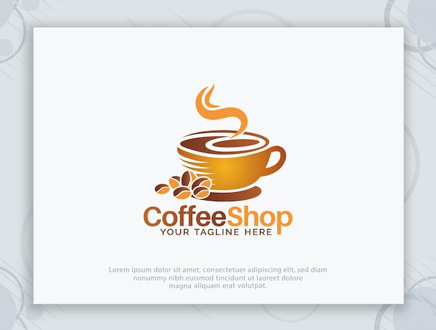 Création de logo vectoriel café