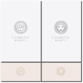 Création de logo vectoriel définir le modèle pour la beauté et les cosmétiques