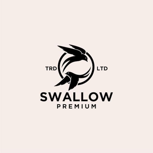 Création de logo vectoriel hirondelle premium