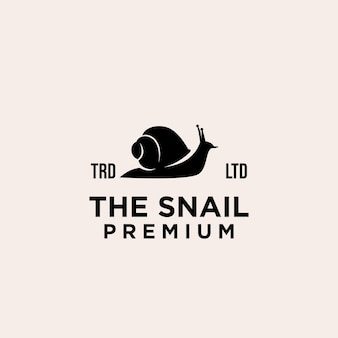 Création de logo vectoriel premium escargot noir