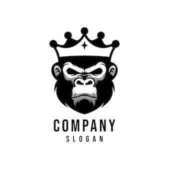 Création de logo vectoriel singe roi