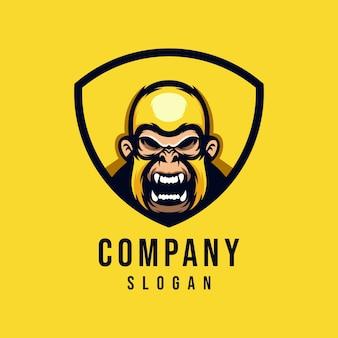 Création de logo vectoriel de singe