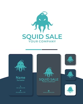 Création de logo de vente de poulpe ou achat de poulpe pour restaurant et poissonnerie