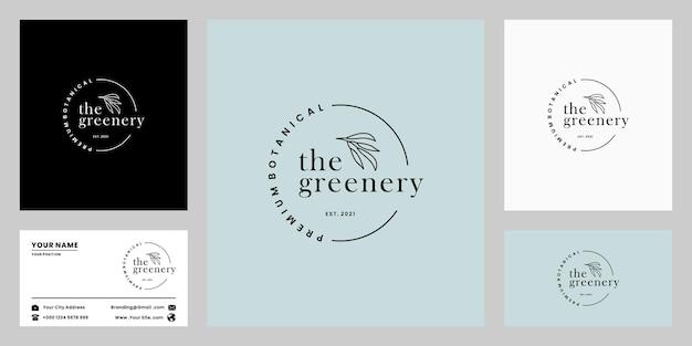 Création de logo de verdure, botanique, produit biologique pour la boutique