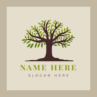 Création de logo de vie d'arbre