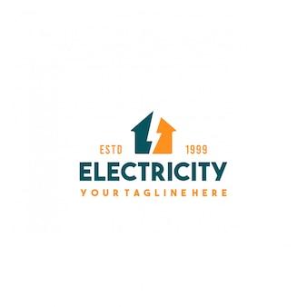 Création de logo de ville électrique créative