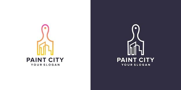 Création de logo de ville de peinture