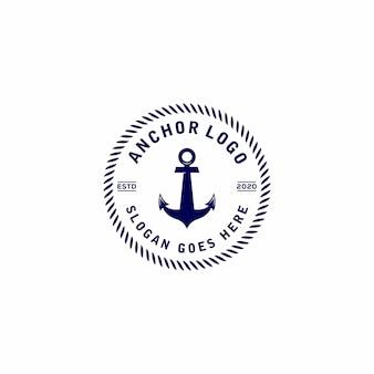 Création de logo vintage ancre