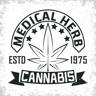 Création de logo vintage de cannabis médical