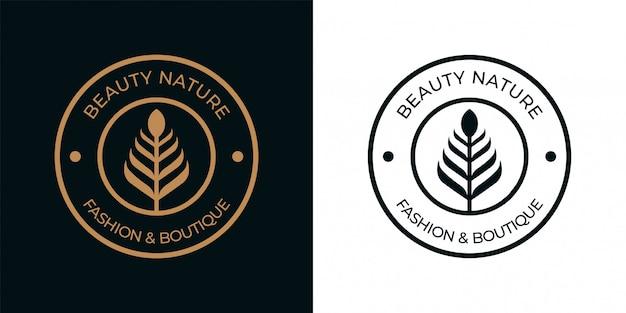 Création de logo vintage cercle nature simple