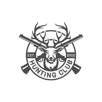 Création de logo vintage cerf chasseur
