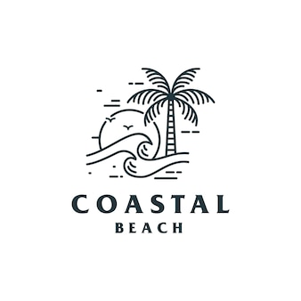 Création de logo vintage coastal beach