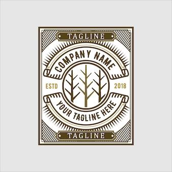 Création de logo vintage forest
