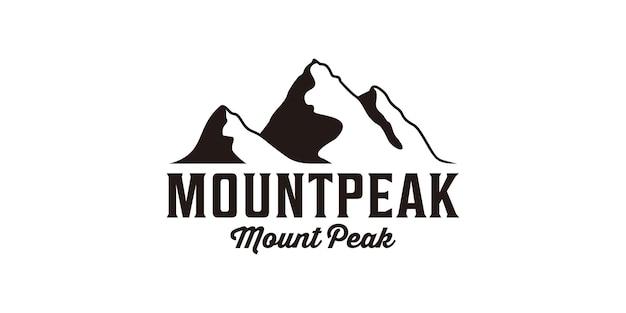 Création de logo vintage hipster montagne pic paysage silhouette