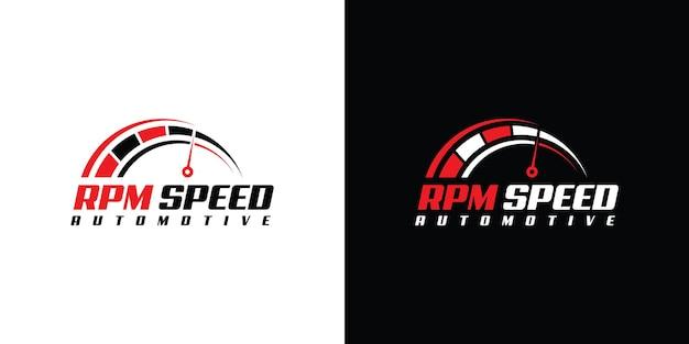 Création de logo de vitesse de rotation pour le modèle d'entreprise automobile