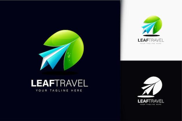Création de logo de voyage feuille avec dégradé