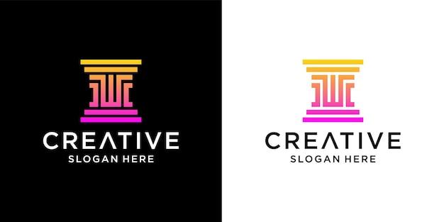Création de logo w law cabinet