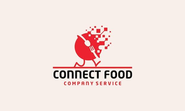 Création de logo world connect cuillère et fourchette