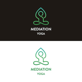 Création de logo de yoga méditation