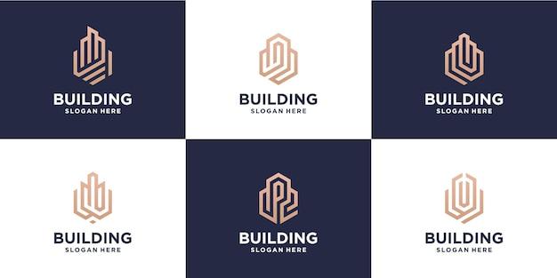 Création d'un lot de conception de logo monoline
