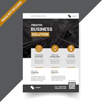 Création de modèle de flyer pour entreprise créative